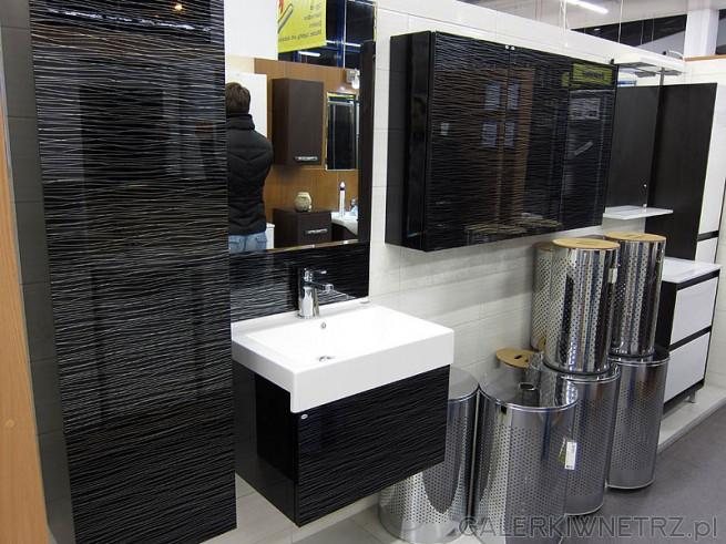 Łazienka w czerni wysoki połysk