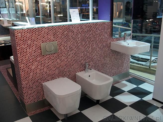 Glazura - mozaika bisazza - art mozaika. Bidet w kształcie owalnym. Prostokątny ...