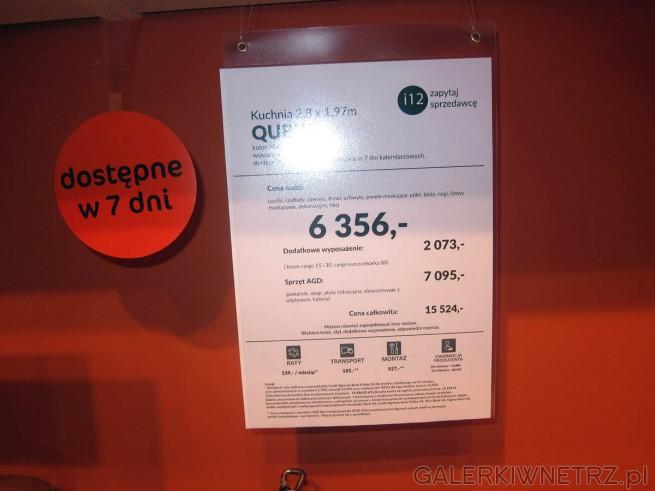 Aranżacja zaproponowana przez Agata Meble kosztuje 6356 złotych (w skład ceny wchodzą: ...