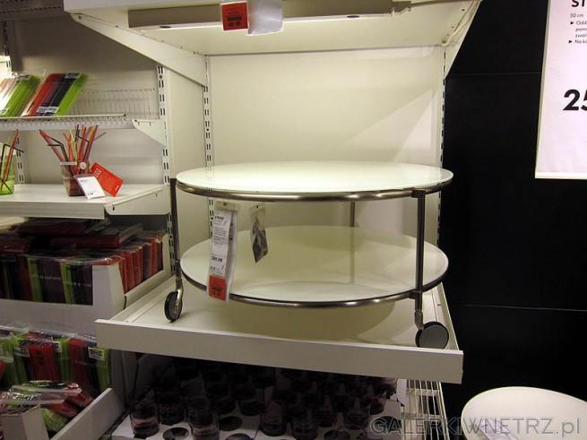 Okrągły stolik na kółkach w cenie 400PLN. Stolik Strind