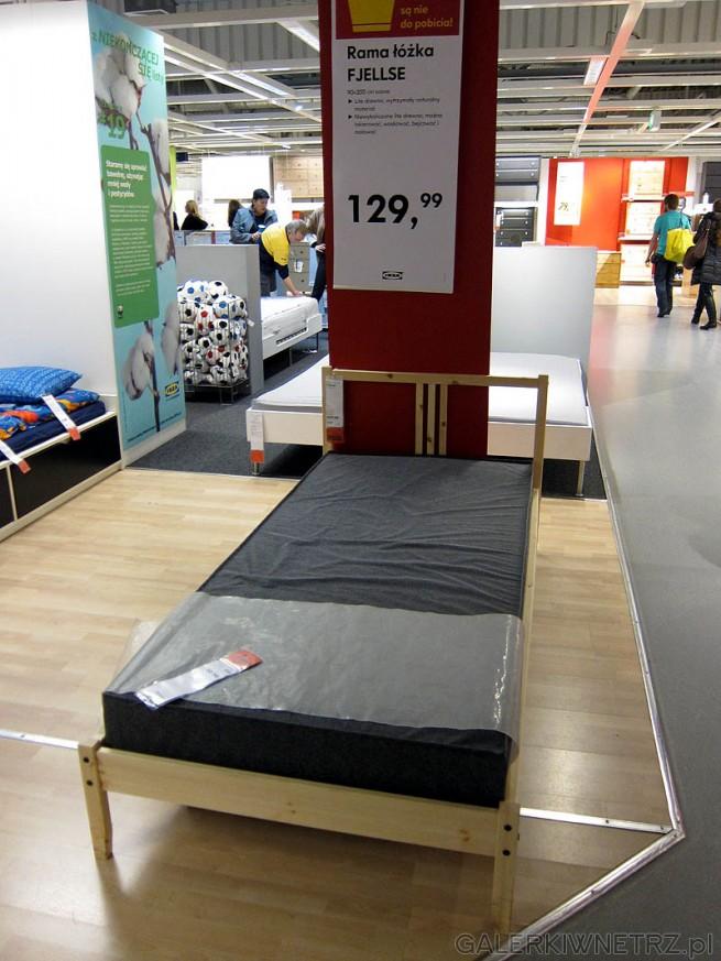 Pojedyncze łóżko 90cm, drewno sosna. Rama łóżka Fjellse. Cena 130PLN (bez dna)