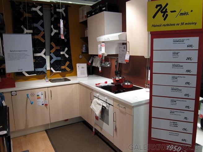 Kuchnia jasny zestaw szafek Ikea cena 1950 pln za meble   -> Kuchnia Ikea Agd