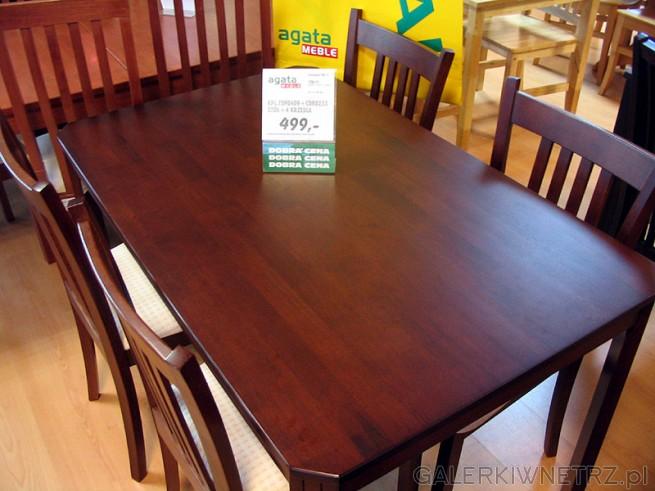 Tani stół z 4ma krzesłami - 499PLN w Meble Agata. To stół z gazetki, jak na taką ...
