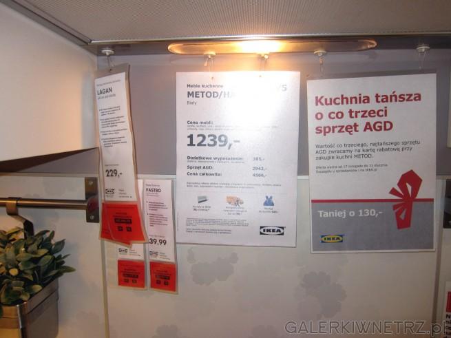 Białe meble kuchenne z IKEI za 1239 złotych za zestaw mebli, zaś za 4565 złotych ...