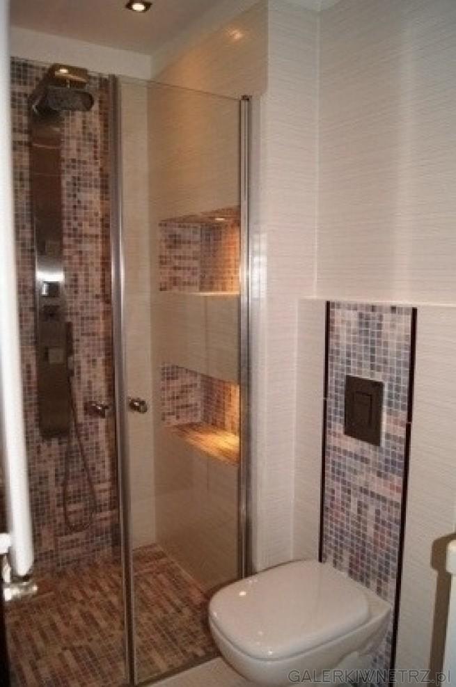 WC to Koło Style. Na ścianie oraz podłodze płytki Paradyż, jasny róż oraz drobna ...
