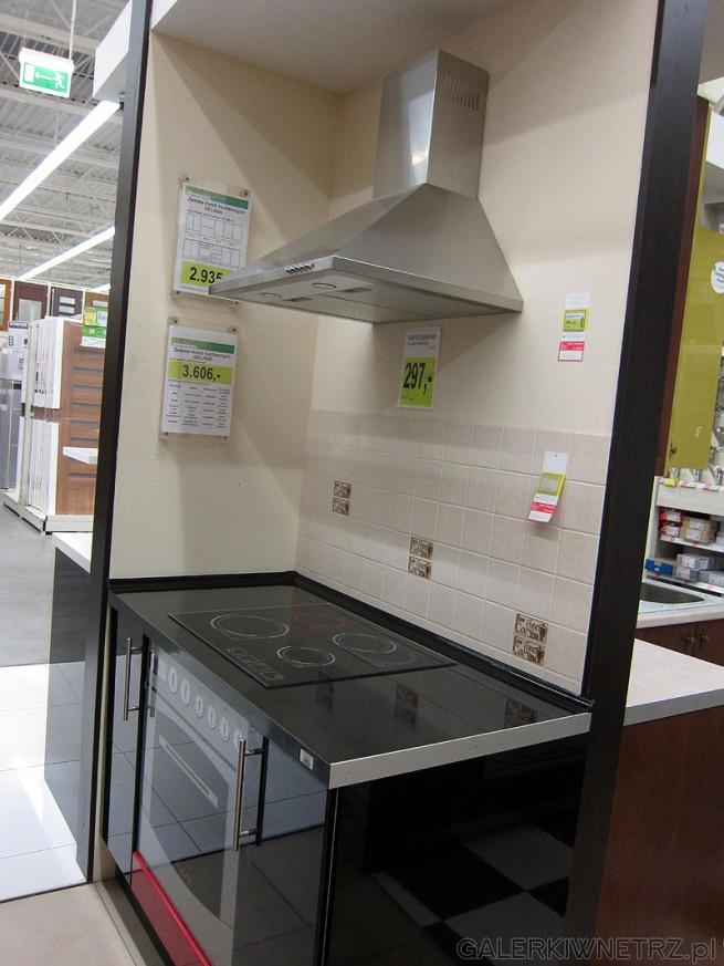 Okap kuchenny srebrny cena 297 pln Zestaw mebli Delinia   -> Kuchnia Aranżacje Leroy Merlin