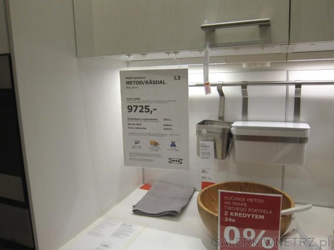 Meble kuchenne METOD/RASDAL z IKEA to meble z białego jesionu w cenie 9725 złotych. ...
