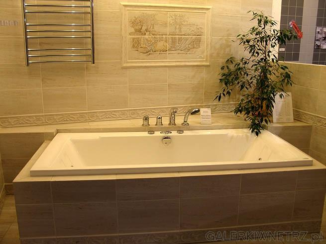 Łazienka - styl łaźni. Prawdopodobnie hiszpańskie płytki