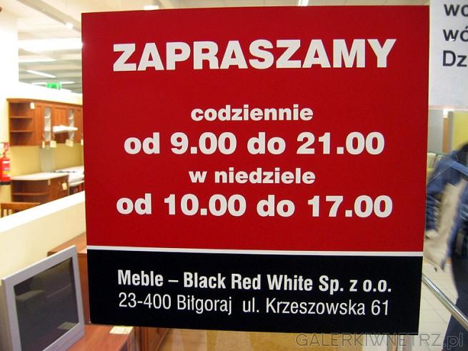BRW sklep - godziny otwarcia. Podany adres jest pewnie adresem spółki gdyż prezentowany ...