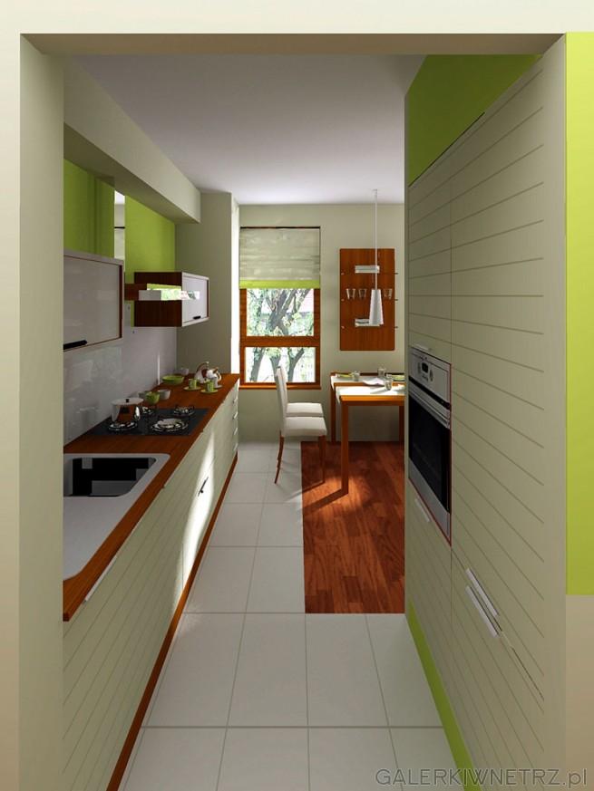 Kuchnia i jadalnia. Piekarnik zabudowany oddzielnie