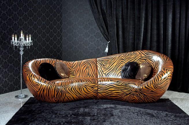 Scala - futurystyczna sofa w barwach zebry. Cena tej sofy to około 30 tyś PLN!