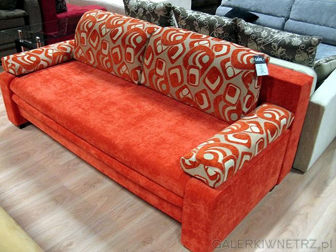 Sofa 2,5 Lotos GR-0. Materiał obiciowy Szenil, wymiary 76x200x88cm. Powierzchnia ...