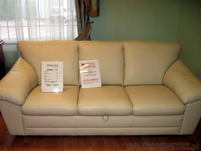 Kanapa lub sofa firmy Swalen model 131. Meble tej firmy mogę spokojnie polecić