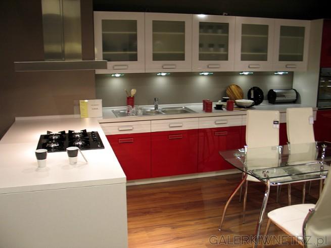 Meble kuchenne black red white ceny