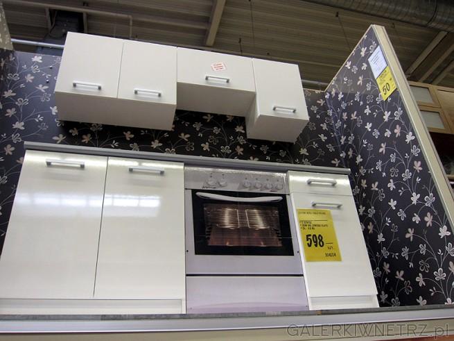 Najtańsze szafki kuchenne w Castoramie. Białe, emaliowane, z płyty. Zestaw trzech ...