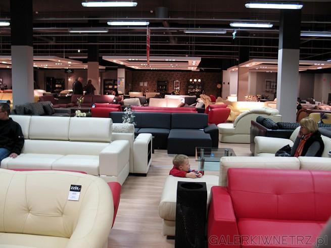 Sala z zestawami wypoczynkowymi, kanapami, sofami, naro�nikami. W sklepie {b BRW ...