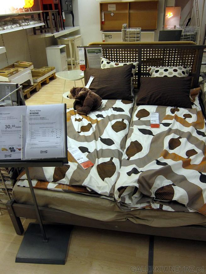 Łóżko Rykene 140cm, cena łóżka 350PLN, cena dna i materaca 450PLN