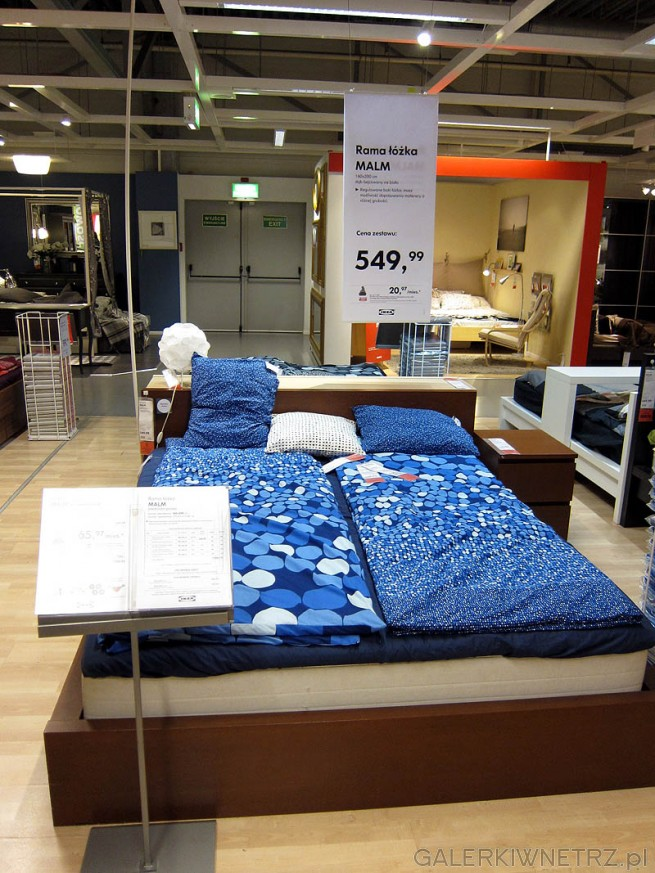 Łóżko rama łóżka Malm 140cm, cena 550PLN