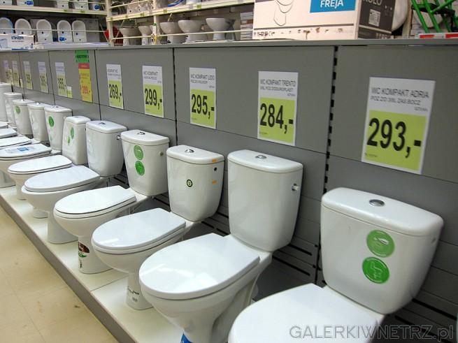 Ogromny wybór kompaktów WC w Leroy Merlin. Białe sedesy z miską przygotowane do ...
