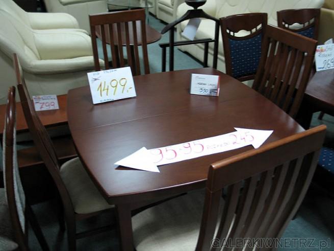 Stół z lekko zaokrąglonymi bokami