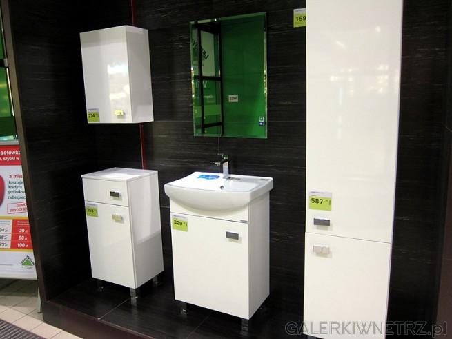 Meble,  małe szafki do łazienki. Lustro do łazienki wykończenie faza, sposób montażu klej.