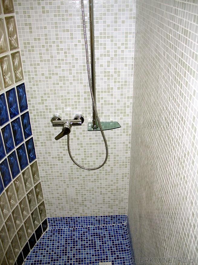 Kabina prysznicowa jest nietypowa bo w zasadzie nie ma tu kabiny. Jest ...