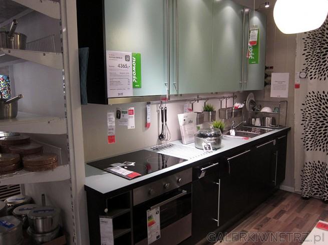 Kuchnia wzdłuż jednej ściany, cena zestawu ze zdjęć 4365PLN (bez AGD). Dostępne w Ikea