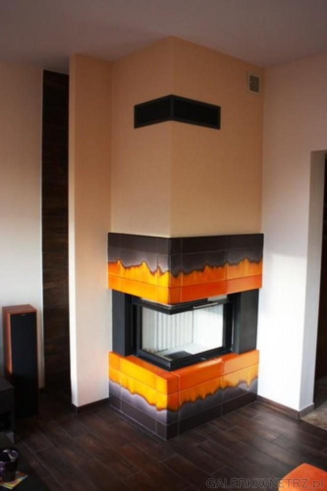 Niezwykły projekt kominku w zabudowie kaflowo-szamotowej, wraz z wkładem Spartherm ...