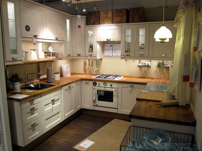 Biała kuchnia  GALERKIWNETRZ PL -> Kuchnia Ikea Opinie