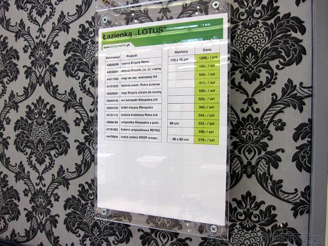 Łazienka typu Lotus. Cennik na produktu, wykorzystane w ekspozycji. Oferta sklepu ...