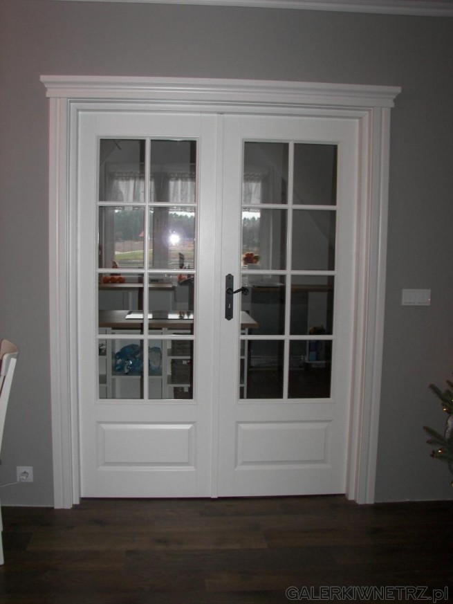 Drzwi Fiordy z ościeżnicą Q-System Pol-Skone w wersji podwójnej przeszklonej. ...