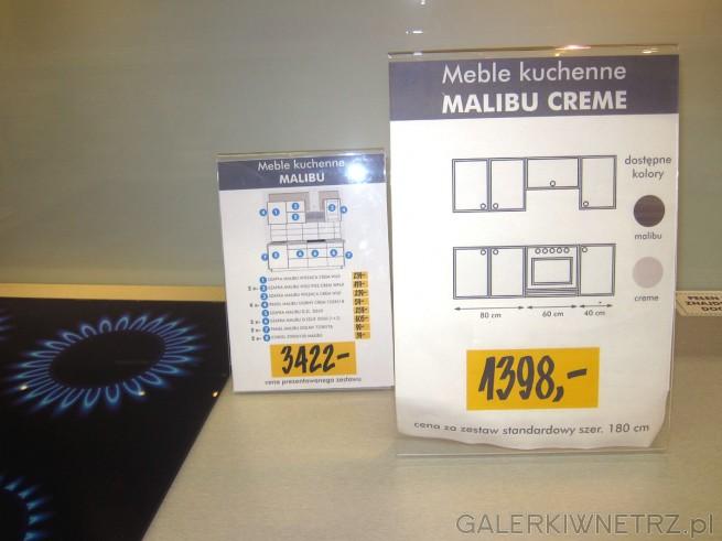 Meble kuchenne Malibu CREME, na które składająsię dwa kolory: ciemny Malibu i rozjaśniający ...