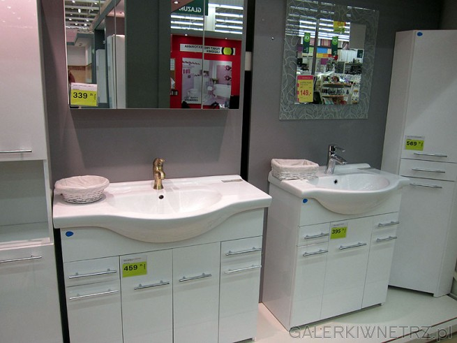 Szafka Pod Umywalkę 4 Drzwiowa 1 Szufladowa Biała Połysk