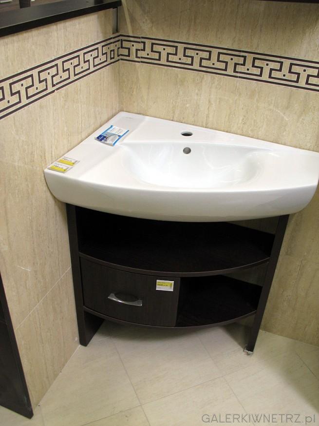 Umywalka narożna i szafka pod umywalkę do narożnika