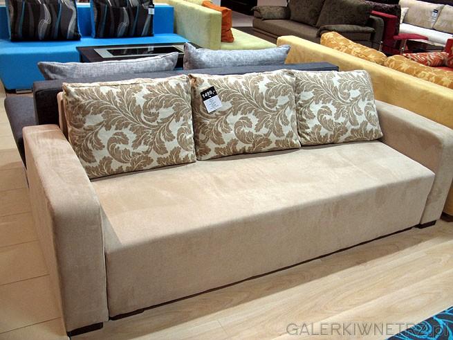 Sofa z opcją spania. Powierzchnia spania 200x144cm. Cena 1499PLN