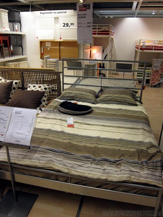 Metalowe łóżko Reimdal, cena 350PLN bez dna i materaca. W komplecie 975PLN