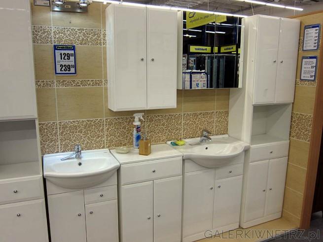 Biała łazienka - Praktiker