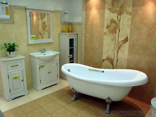 Meble do łazienki, szafka dolna stojąca niska, szafka pod umywalkę, lustro w ...