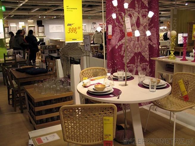 Stół Okrącgły Ikea Kvarnsten średnica 110cm Kolor Biały Przecena