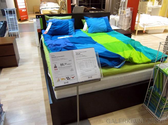 Wysokie łóżko szerokość 160cm, cena łóżka 650PLN, cena dna i materaca 1680PLN