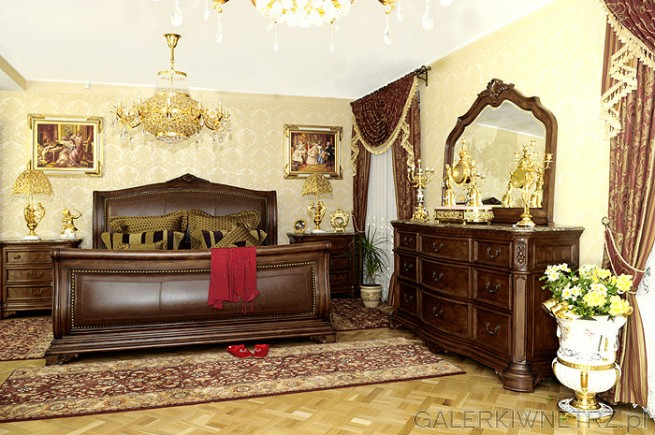 Szultka Furniture przedstawia wykonaną w pięknym stylu i z wdziękiem sypialnię ...