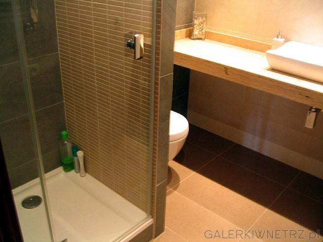 Projekt łazienki został przygotowany przez architekta wnętrz