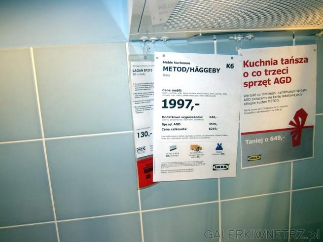 Białe meble kuchenne METOD/HAGGEBY z Ikei za 1997 złotych. Ten zestaw kuchenny, ...