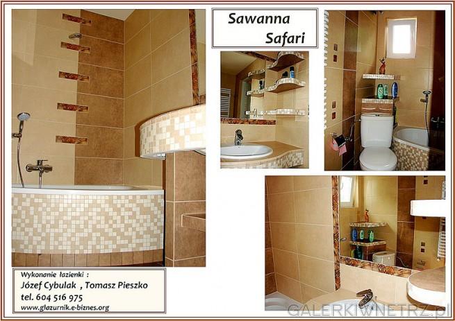 Sawanna Safari w łazience