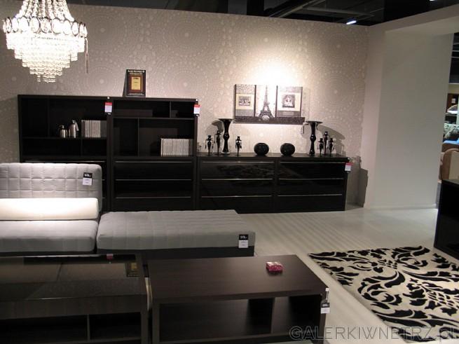 BRW System Creatio półki, regały, szafy, komody, witryny. Kolor wenge. Na zdjęciu ...