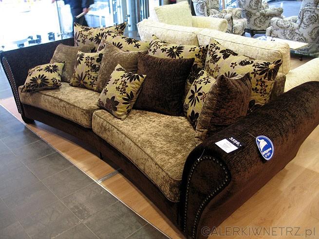 BRW 3 Brouge Bed (potrójna). Materiał obiciowy Szenil/Żakard. Wymiary sofy 90x281x122cm. ...