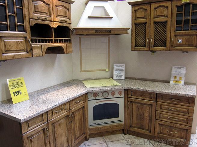 Stylizowane szafki kuchenne w Castoramie za 7876 zł. Drewniane meble do kuchni ...