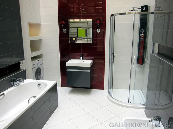 Elegancka Aranżacja łazienki W Leroy Merlin Przestronne