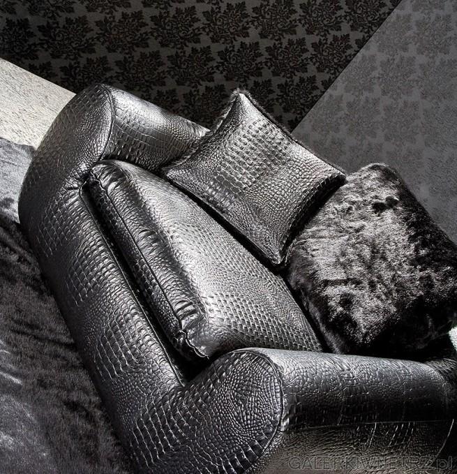 Jolly: komfortowe fotele i sofa. Pokryte skórą o wzorze zebry w dwóch odcieniach ...