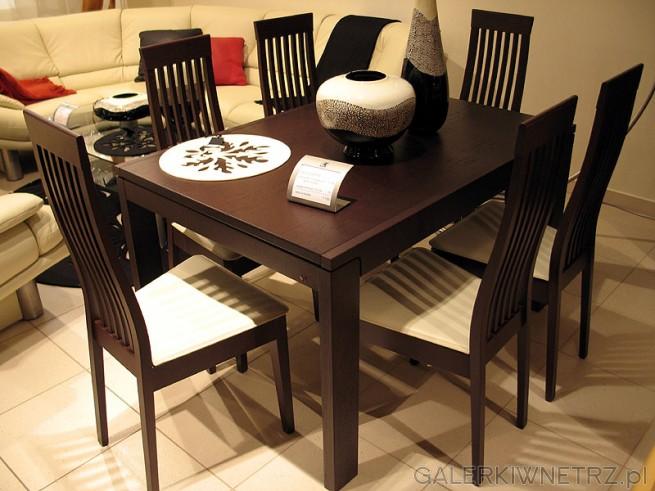 Zestaw Calligaris (Kler). Stół do jadalni i 6 krzeseł. Wymiary stołu 90x130/230. ...